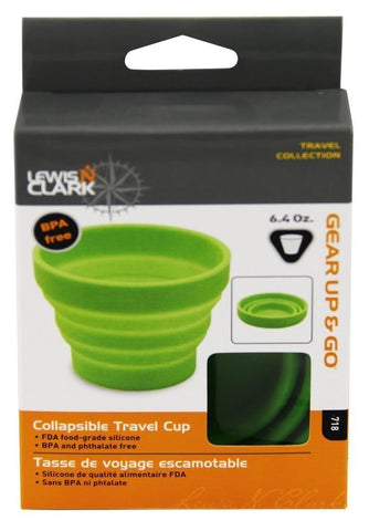 Lewis N. Clark Collapsible Travel Cup, 6.4oz, Green #718