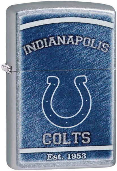 Zippo NFL Indianapolis Colts, Street Chrome Finish, Windproof Ligher #29945