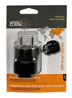 Lewis N. Clark Grounded Adapter Plug, Schuko For Outlets Europe/Asia #VG12