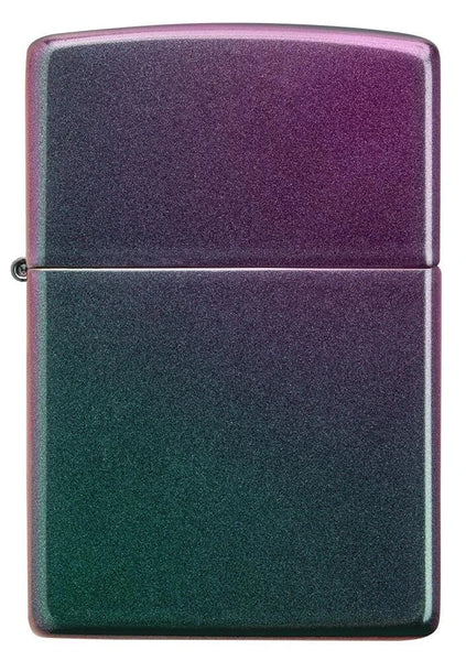 Zippo Iridescent Violet Satin Finish Genuine Windproof Pocket Lighter NEW #49146