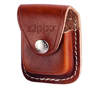 Zippo Leather Pouch, Brown Leather With Belt Loop, For Windproof Lighters #LPLB