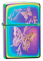 Zippo 28442, Butterflies Lighter, Colorful Spectrum Finish #28442