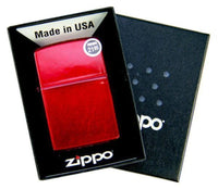 Zippo Candy Apple Red Lighter, Translucent Coating #21063