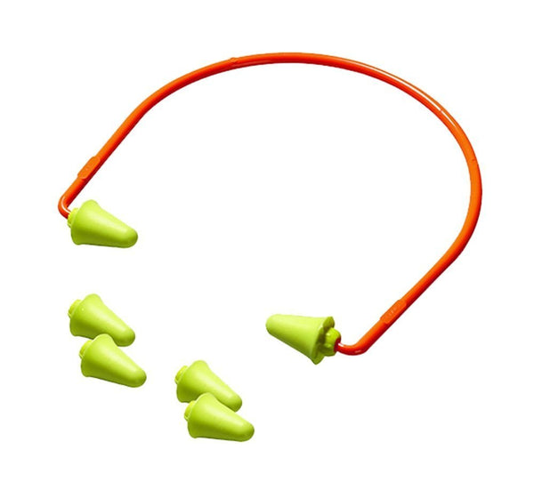 3M Peltor Banded Earplugs + 2 Spare Earplugs, Lightweight & Soft 28dB NRR #97065