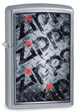 Zippo Diamond Plate Design, Street Chrome Finish, Windproof Lighter #29838