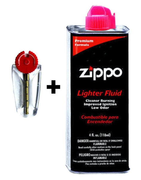 Zippo Fuel Fluid + Flints Kit Gift Box Lighter, For Regular Windproof #50R
