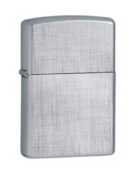 Zippo Linen Weave, Brushed Chrome Finish, Genuine Windproof Lighter #28181