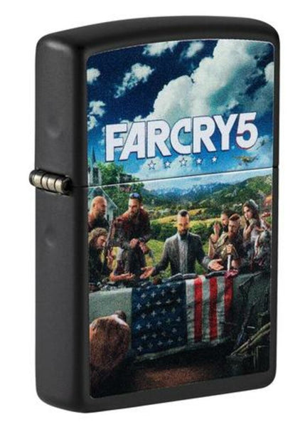 Zippo Far Cry 5 Gaming, Black Matte Finish, Genuine Windproof Lighter #49244
