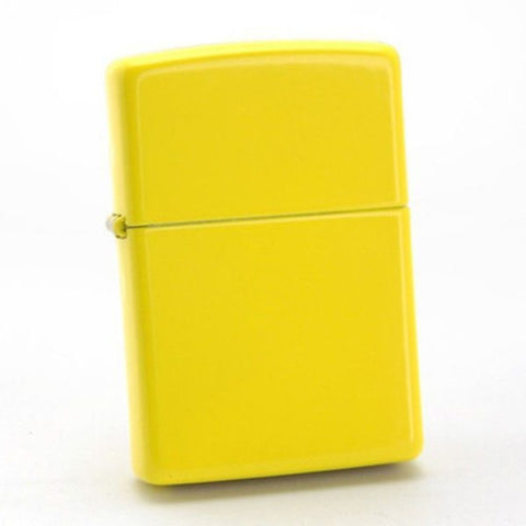 Zippo Lemon Yellow Matte Finish Genuine Windproof Lighter #24839