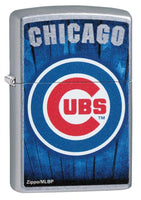 Zippo MLB Chicago Cubs Brushed Chrome Finish Genuine Windproof Lighter #29792