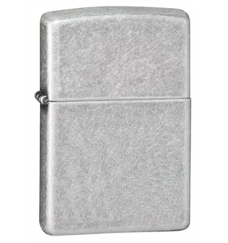 Zippo Antique Silver Plate Lighter, Reg Flat Bottom #121FB