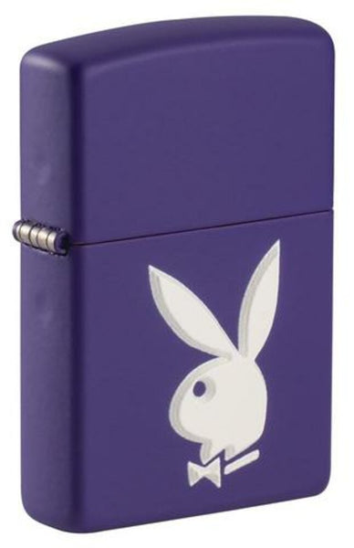 Zippo Playboy Bunny 3D Logo, Purple Matte Finish, Windproof Lighter #49286