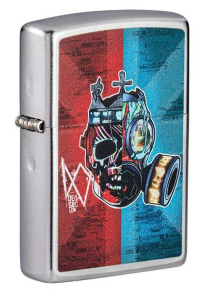 Zippo Watch Dogs Legion Gaming, Satin Chrome Finish, Windproof Lighter #49242