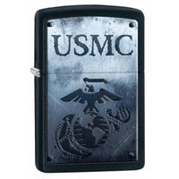Zippo US Marine Shield Lighter, Black Matte #28744