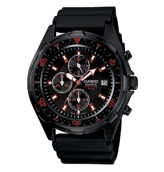 Casio Sports Men's Watch, Chronograph, Analog, Black Resin Band #AMW-370B-1A1VCF