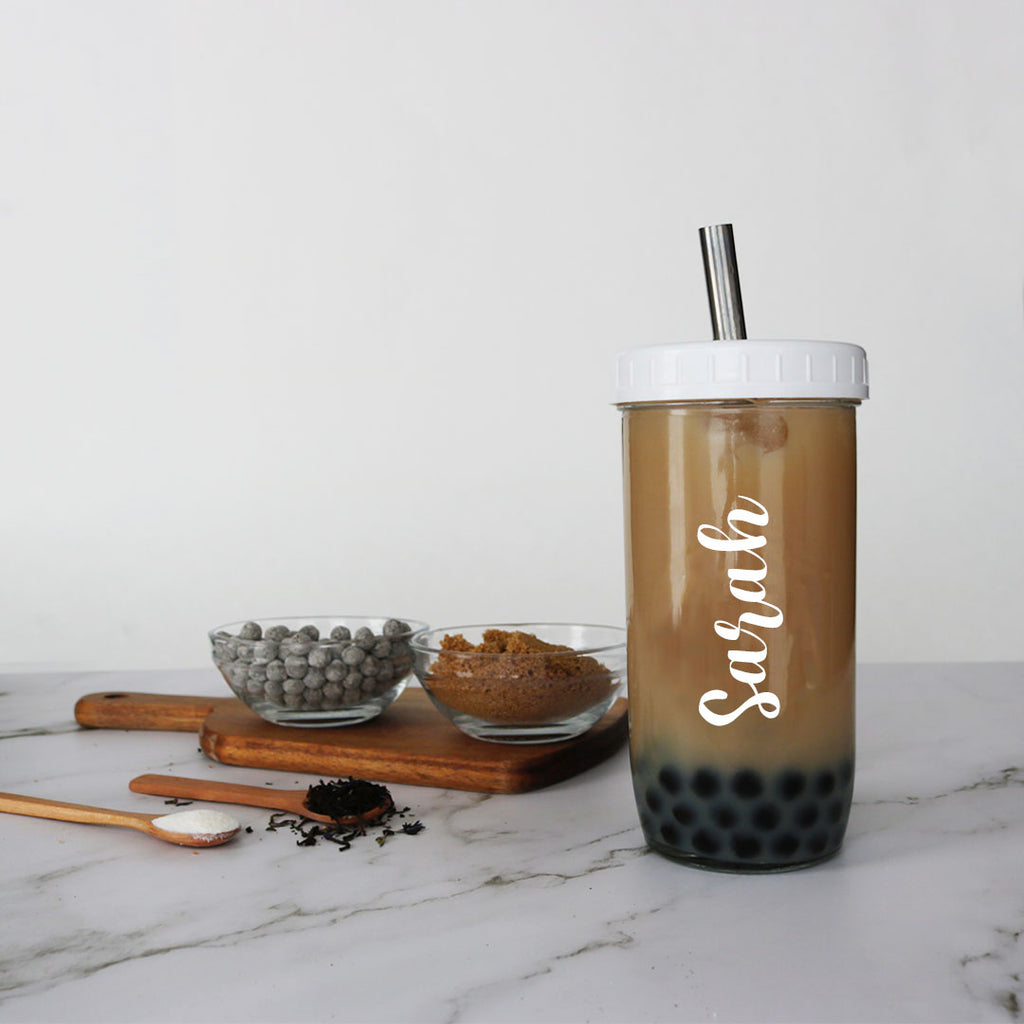 customized hojicha bubble tea kit