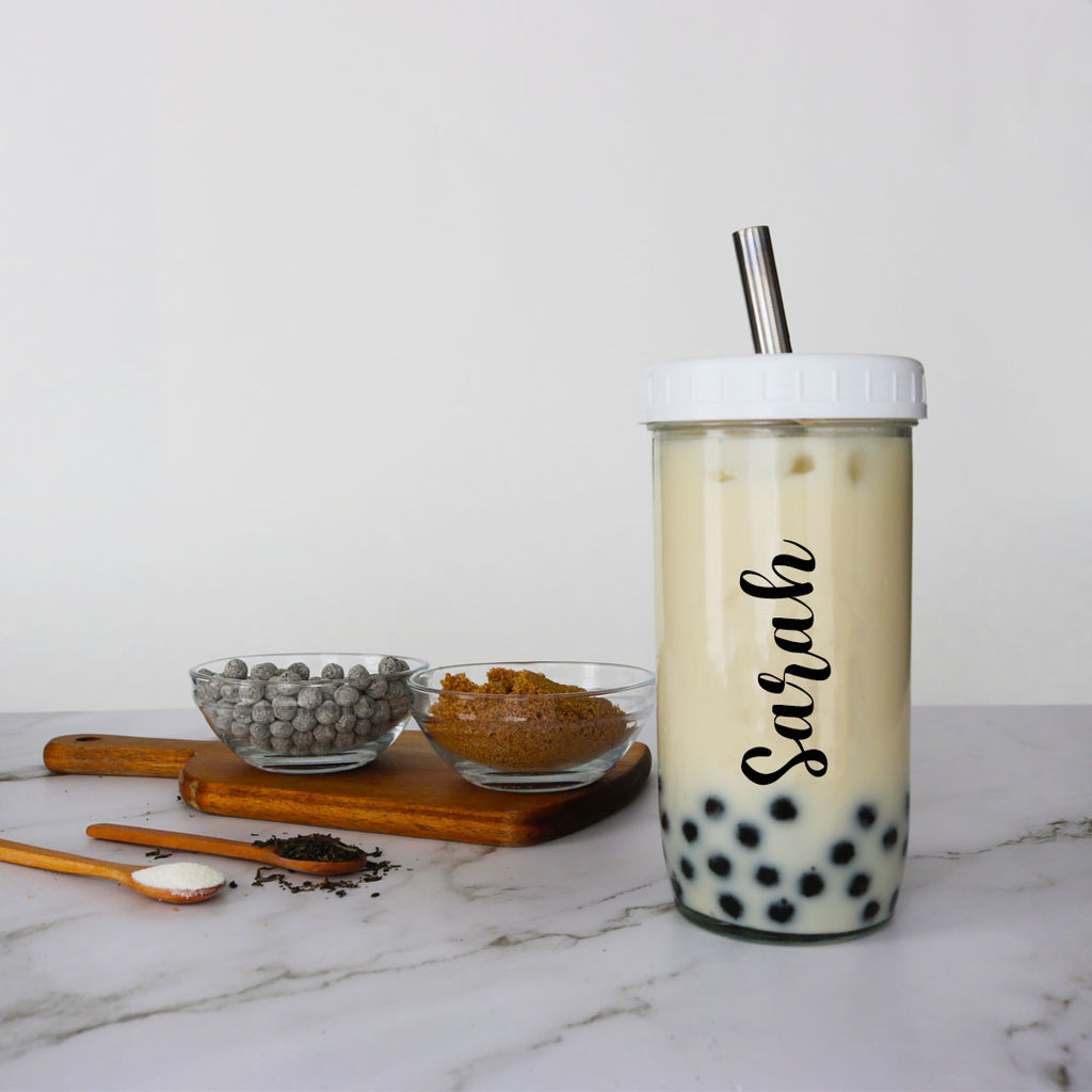 customized jasmine milk bubble tea kit