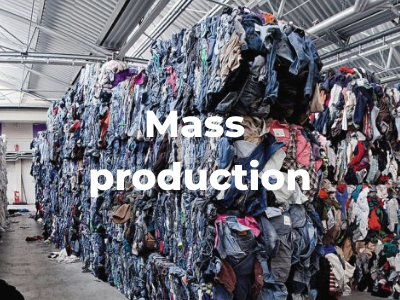 overproduction that has ended in waste