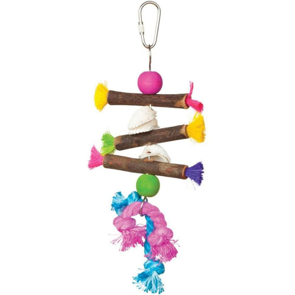 TROPICAL TEASERS SHELLS AND STICKS BIRD TOY