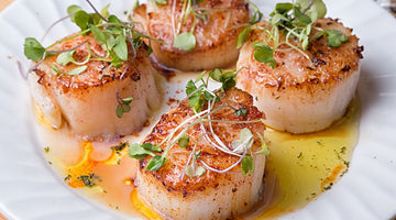 Scallops with Smoky Avocado Dressing