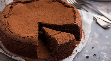 Dark & Smoky Almost-Flourless Chocolate Cake