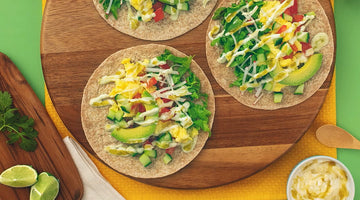 Healthy Breakfast Tacos with Spicy Yogurt