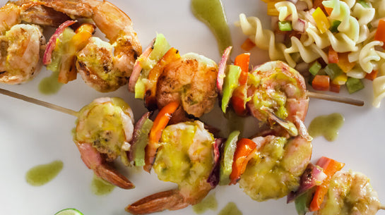 Citrus Glazed Shrimp Skewers