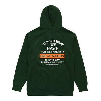 GREAT NATION HOODIE FOREST
