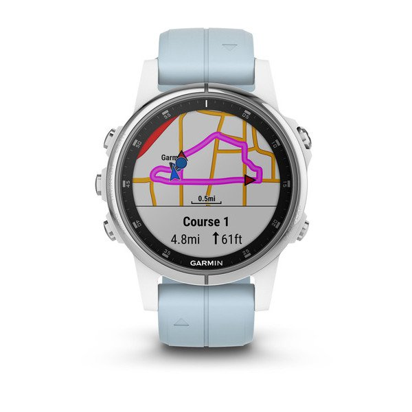 Garmin 010-01987-22 Fenix 5S Plus White with Sea Foam Band Watch