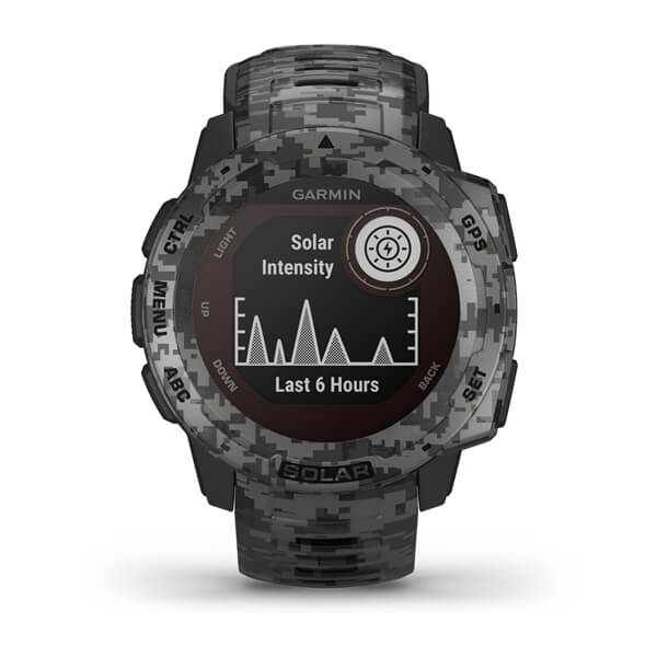 Garmin 010-02293-15 Instinct® Solar – Camo Edition Graphite Camo Smart Watch