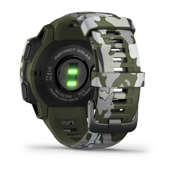 Garmin 010-02293-16 Instinct® Solar – Camo Edition Lichen Camo Watch