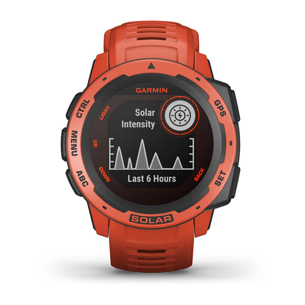Garmin 010-02293-21 Instinct® Solar Flame Red Watch