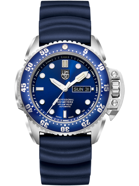 Luminox 1523 SCOTT CASSELL DEEP DIVE Blue Dial Rubber Watch