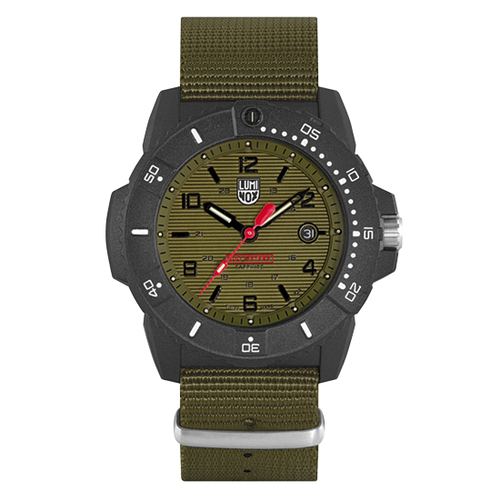 Luminox 3617.SET Navy SEAL 45mm Case Green Dial Nylon and Rubber Set Watch