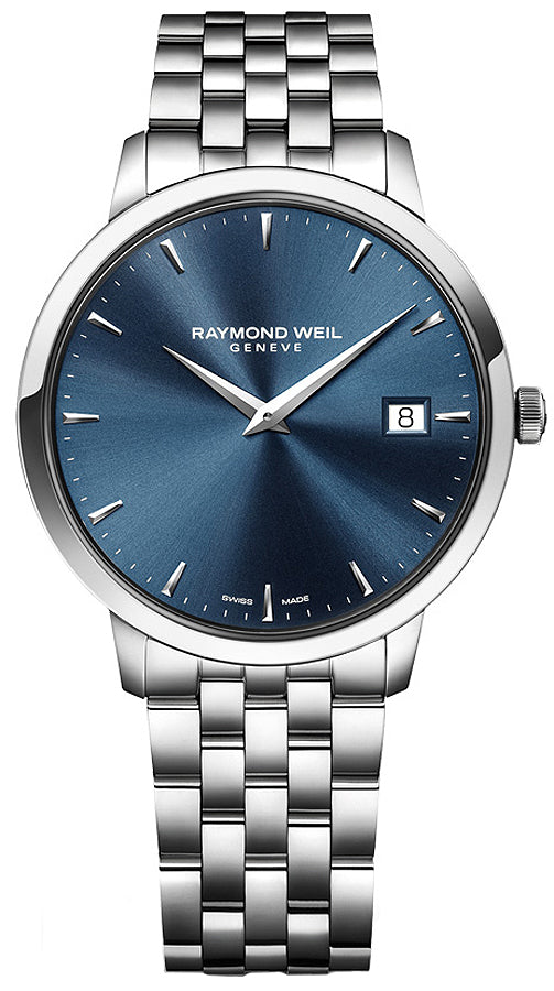 Raymond Weil 5588-ST-50001 Toccata Blue Dial Stainless Steel Watch