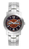 Harley Davidson by Bulova 76A019 Decals Collection Stainless Steel Watch