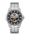 Harley Davidson by Bulova 76A158 Heavy Metal Collection Silver Skull Watch