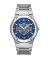 Harley Davidson by Bulova 76A159 Stainless Steel Blue Logo Dial Watch