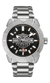 Harley Davidson by Bulova 76B169 Raised Brake Lever Collection Watch