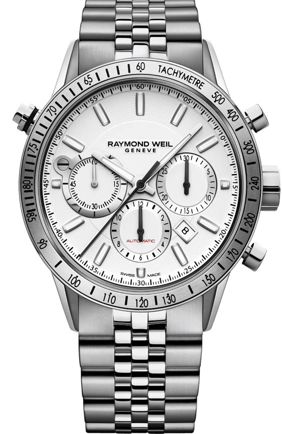 Raymond Weil 7740-ST-30001 Freelancer Stainless Steel Automatic Chronograph Watch