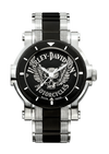 Harley Davidson by Bulova 78A109 Black Medallion Dial Watch