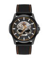 Harley Davidson by Bulova 78A118 Black Dial Smoke Grey Skull Watch