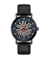 Harley Davidson by Bulova 78A120 Black Dial Red/Blue Accent Fat Boy Logo Watch