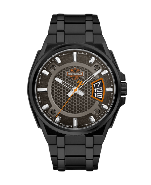 Harley Davidson by Bulova 78B151 Gunmetal Dial Stainless Steel Watch