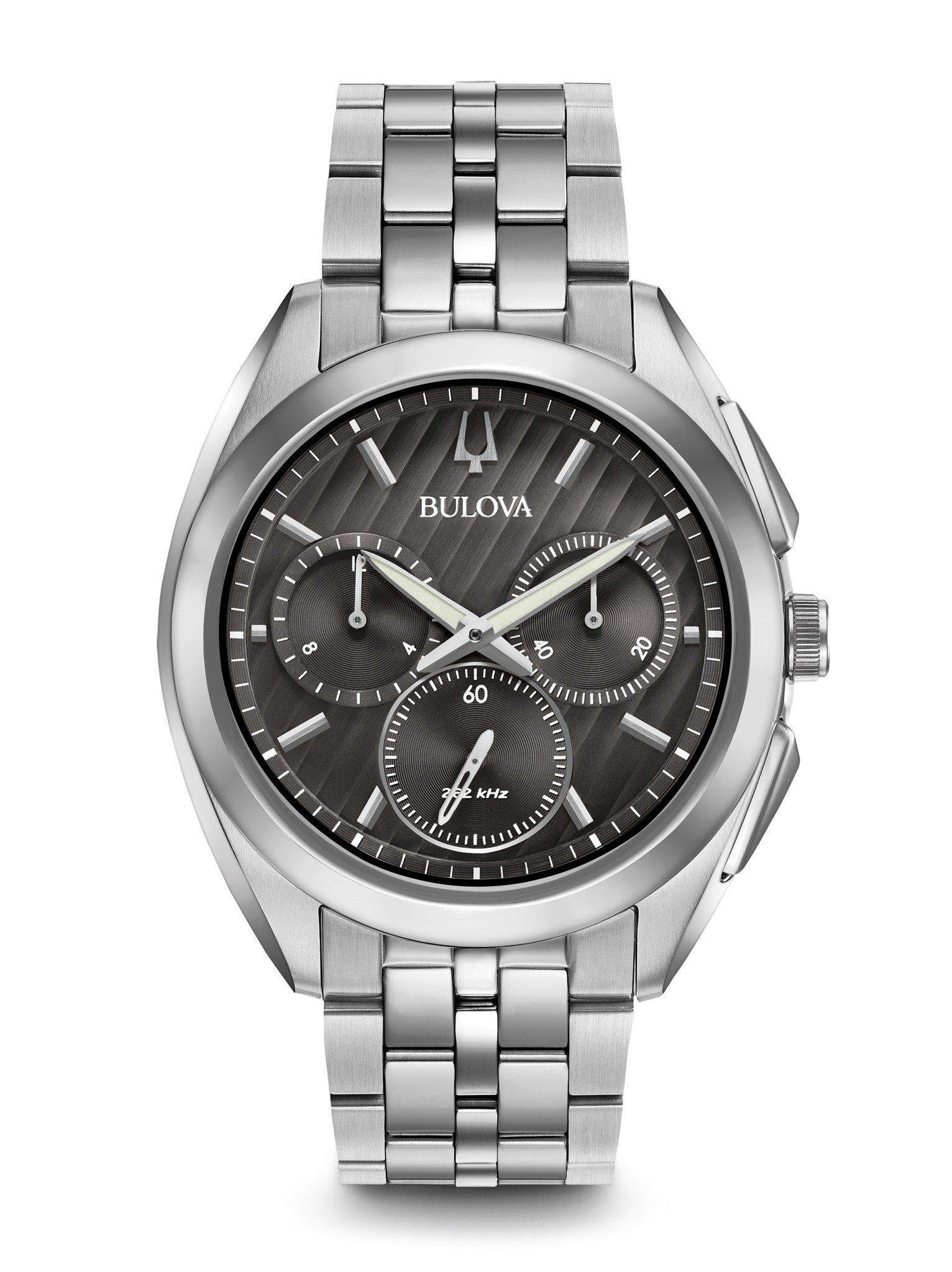 Bulova 96A186 Curv Mens Stainless Steel Chronograph Watch