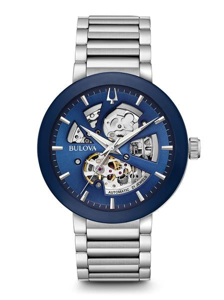 Bulova 96A204 Automatic Skeleton Dial Stainless Steel Watch