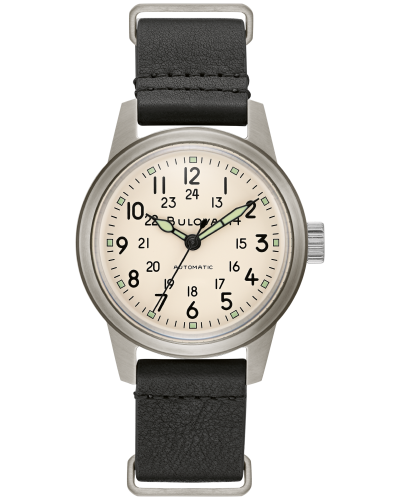 Bulova 96A246 Retro Military Automatic Hack Nato Watch