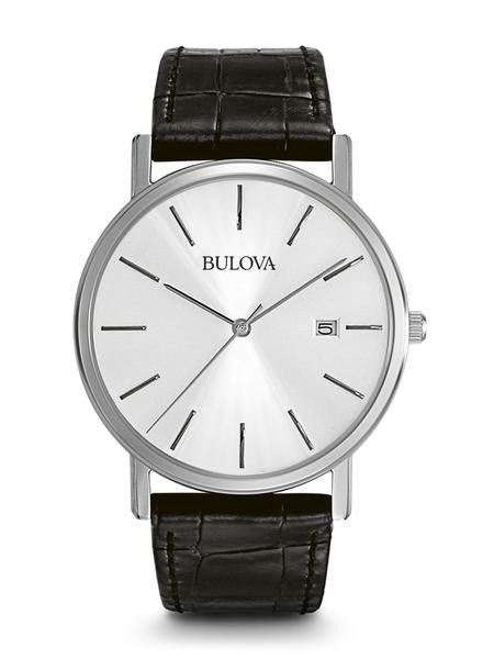 Bulova 96B104 Mens Watch Stainless Steel Dress Silver Dial