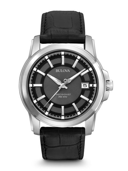 Bulova 96B158 Men's Precisionist Leather Strap Watch