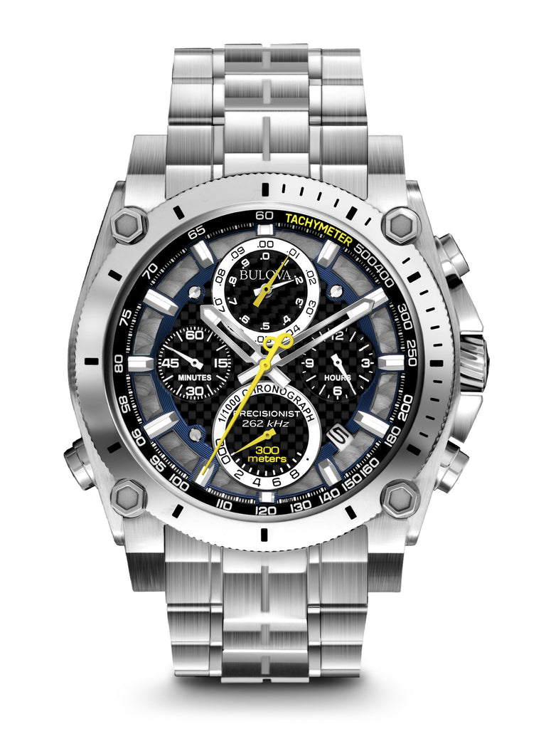 Bulova Men's 96B175 Men's Precisionist Chronograph Stainless Steel Watch